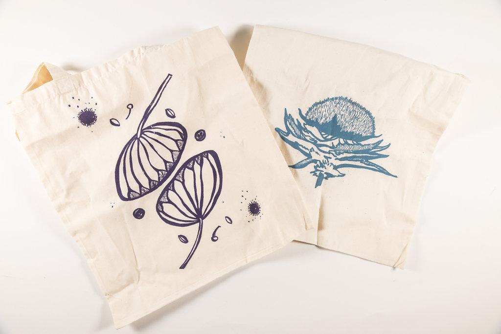 Prints on cloth bags