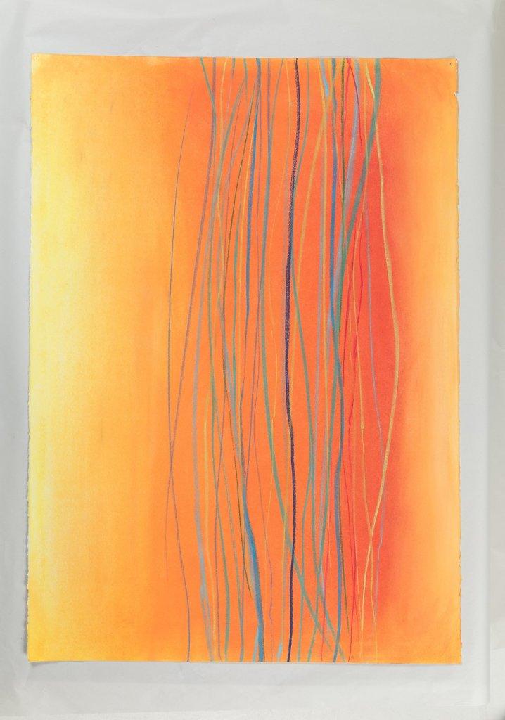 lines on orange