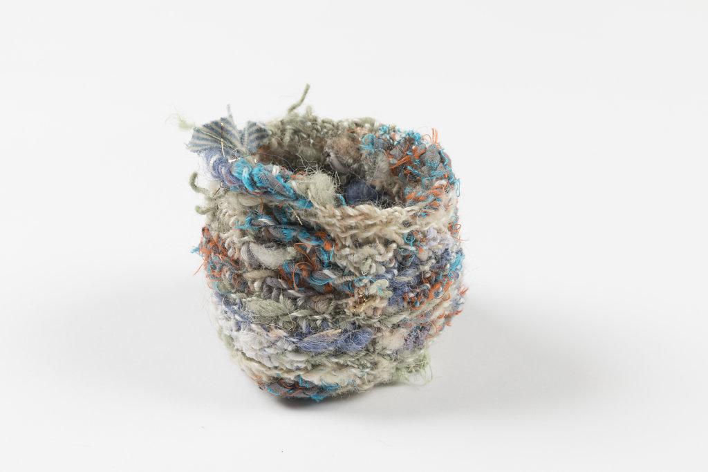 Handspun wool bowl