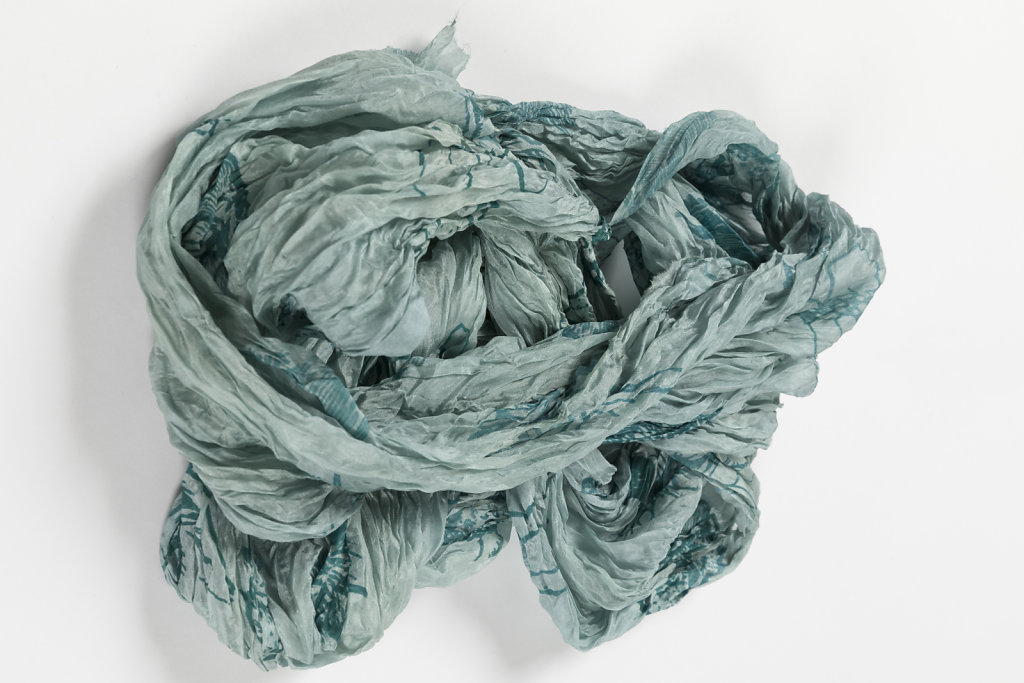 Silk Scarf in teal